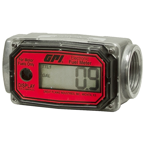 Great Plains 01A31GM GPI Aluminum Electronic Digital Fuel Meter - Fast Shipping - Meters