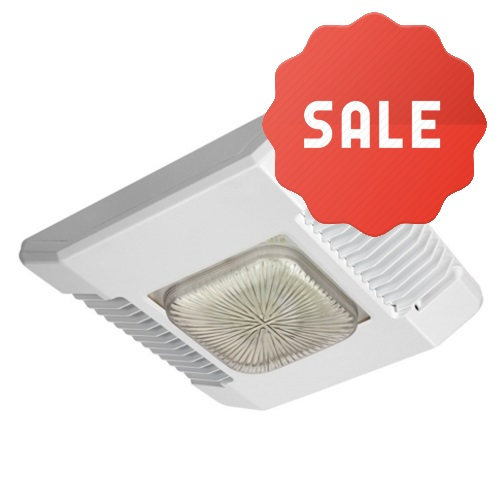Cree Direct Mount LED Canopy, Drop Lens 145 Watt, White Finish - Fast Shipping - Lighting Products