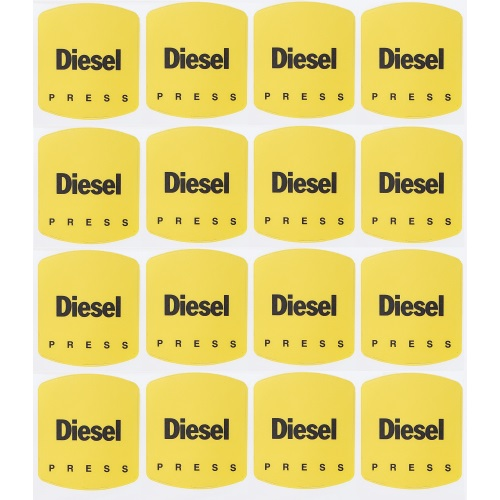 Petrographics Decal: Y Diesel 16 Pack - Fast Shipping - Graphic Overlays & Decals