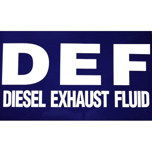 PI Decal: DEF Diesel Exhaust Fluid - Fast Shipping - Graphic Overlays & Decals
