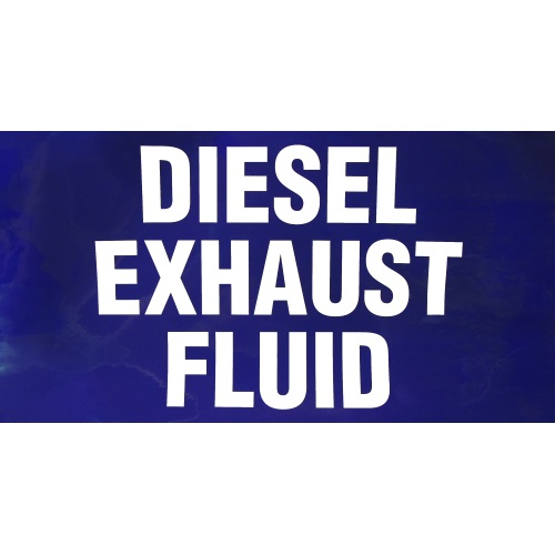 PI Decal: Diesel Exhaust Fluid 19x10 - Fast Shipping - Graphic Overlays & Decals