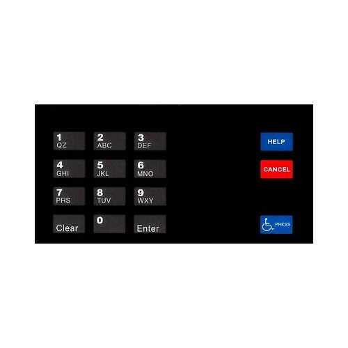 Gilbarco EU03004G006 ENC/ECL Keypad Overlay - Fast Shipping - Graphic Overlays & Decals