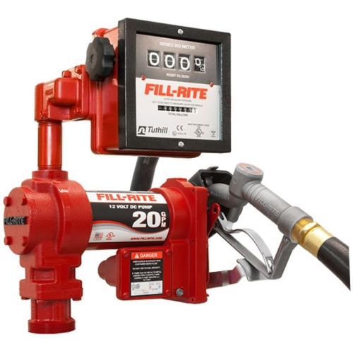 Fill-Rite FR4211G 12v DC Pump  20 GPM  gallon meter - Fast Shipping - Consumer Petroleum Pumps