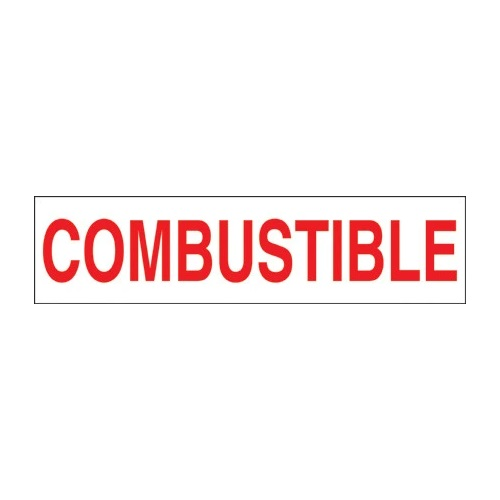 PI Decal: Combustible, 12