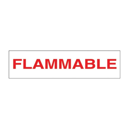 PI Decal: Flammable 12x3