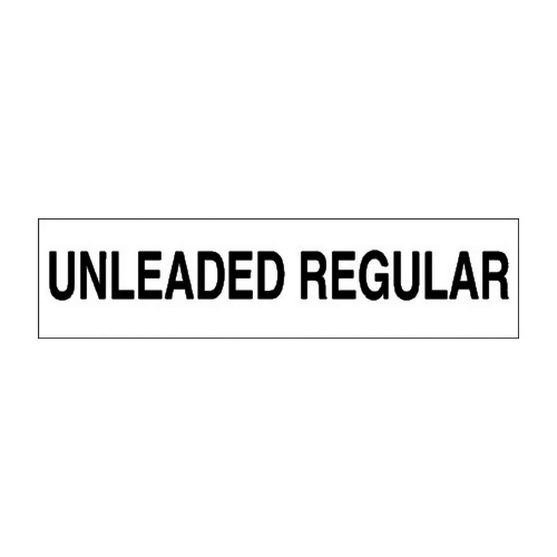 PI Decal Unleaded Regular 12x3