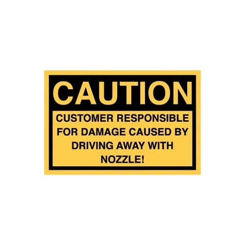 PI Decal: Nozzle Sticker Caution Drive Off - Fast Shipping - Graphic Overlays & Decals